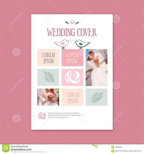 Wedding Flowers Free Brochure by Vector Wedding Template Cover Booklet Stock Vector