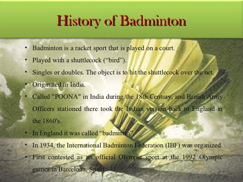 Records Of History Of Badminton