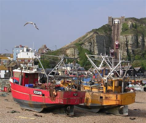 old town boats file hastings fishing boats on beach cliff railway old