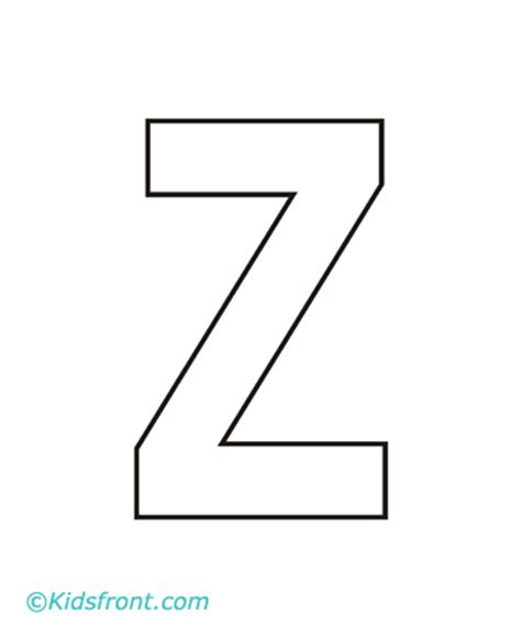 Alphabet Z Coloring Pages Printable Z Coloring Page