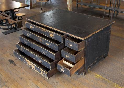 Vintage Industrial Drawers by Vintage Industrial Antique Wooden Printers Cabinet With