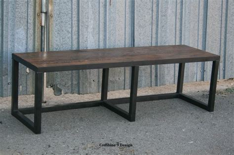 urban benches buy a hand made modern loft style bench rustic urban