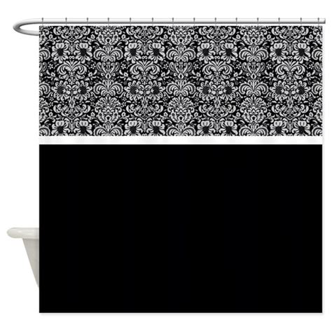 grey damask shower curtain grey and black damask shower curtain by alondrascreations
