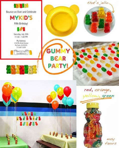 water themed birthday party honeybear 17 best images about gummy bear theme party on pinterest