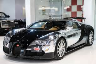 Bugatti For Sale Dubai Stunning Chrome And Black Bugatti Veyron For Sale Gtspirit