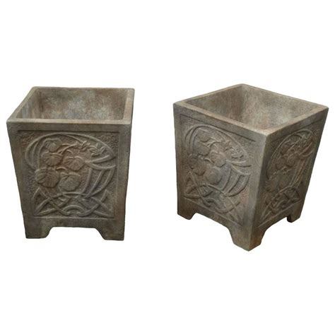 Deco Planter by Square Deco Planter For Sale At 1stdibs