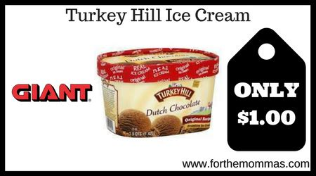 printable turkey hill ice cream coupons giant turkey hill ice cream only 1 00 starting 8 18 ftm