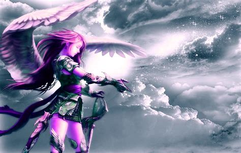 wallpaper girl angel anime girl angel 7 hd wallpaper animewp com