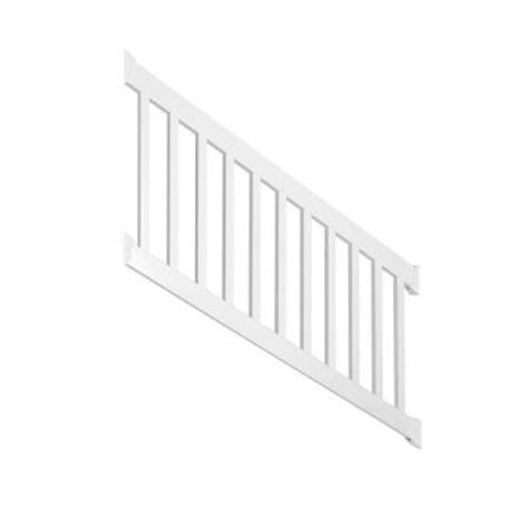 weatherables walton 3 ft x 72 in vinyl white stair