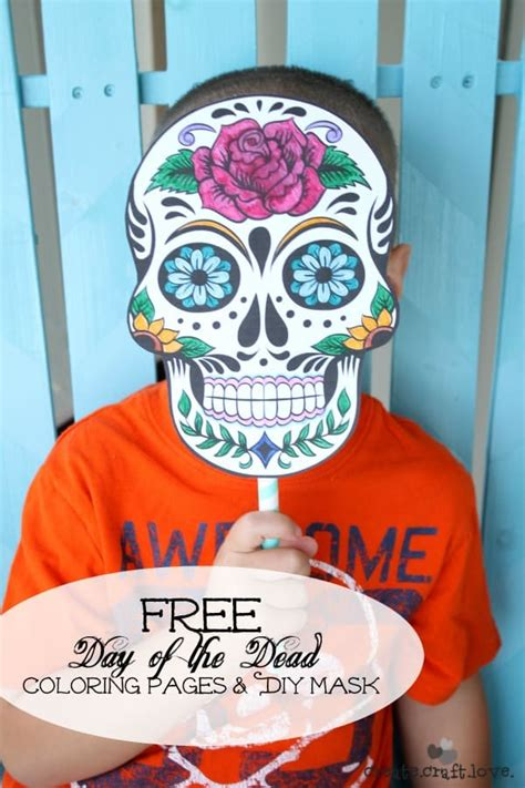 Day Of Dead Printable Masks