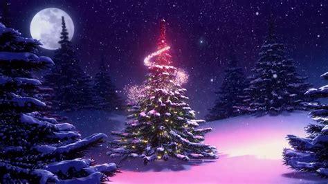arboles de navidad con nieve fondos animados arbol de navidad nieve hd animated background
