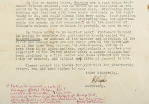 Letters Jrr Tolkien see j r r tolkien s letter to fan that changed hobbit