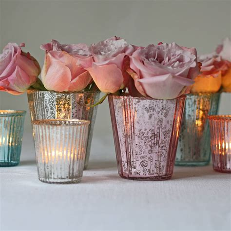Votive Vases by Ribbed Mercury Glass Vase Or Votive By The Wedding Of Dreams Notonthehighstreet