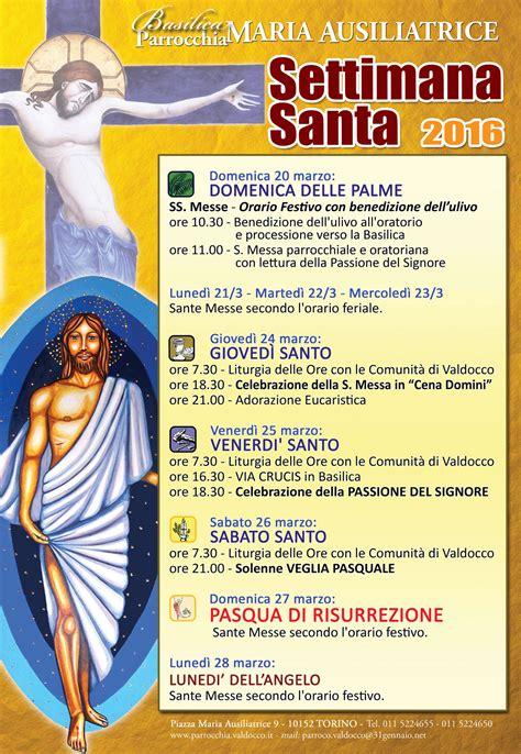 programma settimana santa 2016 parrocchia settimana santa 2016 orario celebrazioni