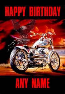Harley davidson motorcycle birthday card
