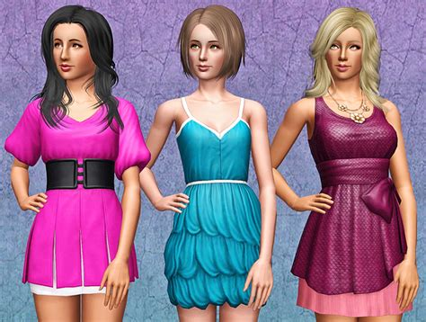 sims 3 basegame clothes and hair my sims 3 blog showtime clothes base game compatible by
