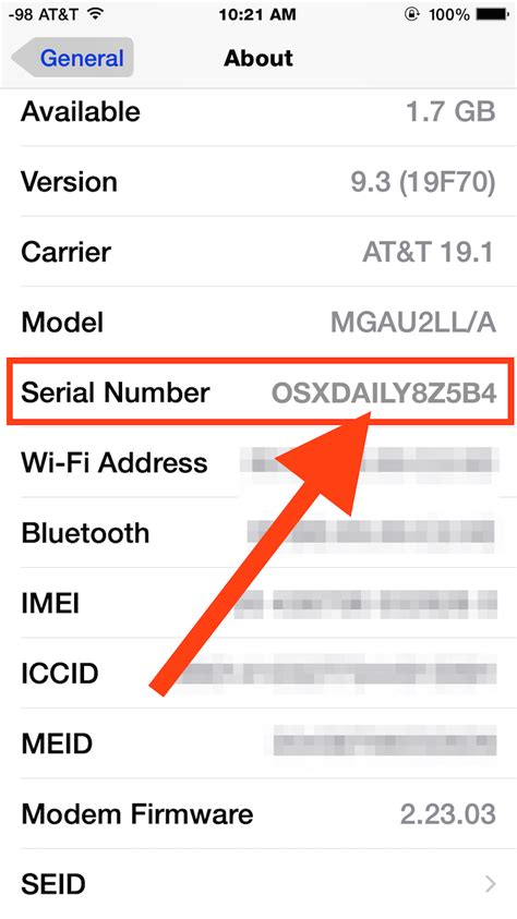 Find Number How To Find The Serial Number Of An Iphone Or Ipod Touch