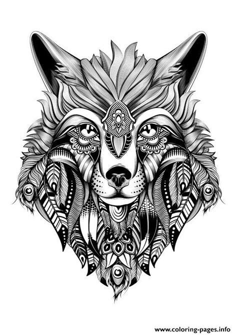 intricate wolf coloring pages 23 best images about wolf coloring pages on pinterest