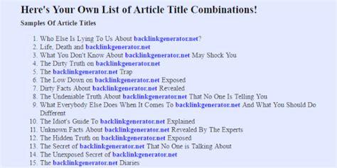 Essay Title Generator by Essay Titles Generator