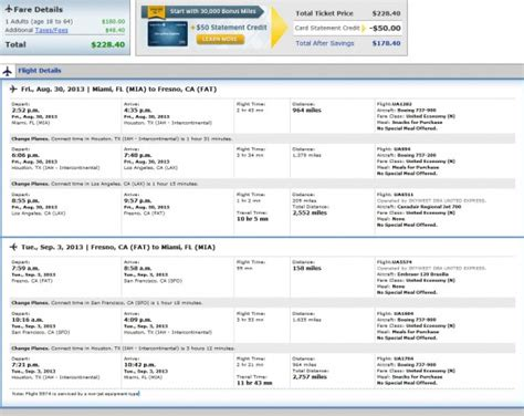 the flight deal airfare deal united miami fresno california and vice versa 229