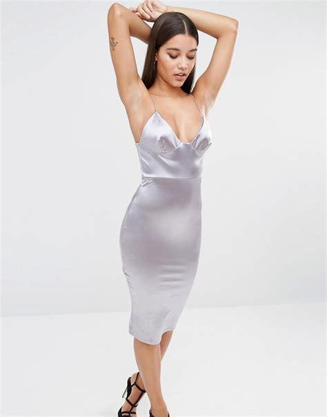 Dress Midi Satin shoptagr club l satin cami midi dress by club l