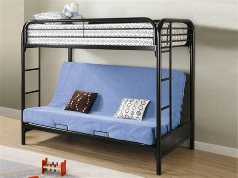 Black Metal Bunk Bed With Futon by Metal Black Futon Bunk Bed Bunk Beds