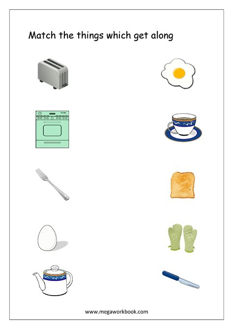 things that go together worksheets free printables
