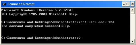 reset password xp command prompt how to change the administrator password in windows xp