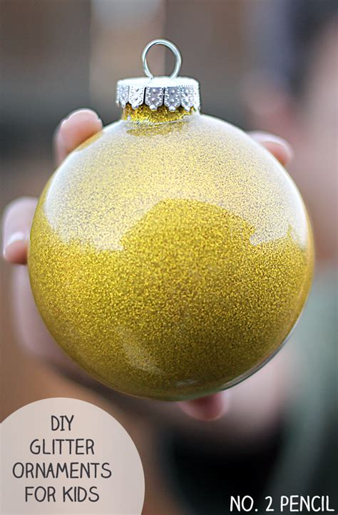 diy ornaments glitter diy glitter ornaments for no 2 pencil