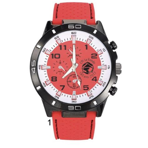 MONTRE CHRONO ROUGE