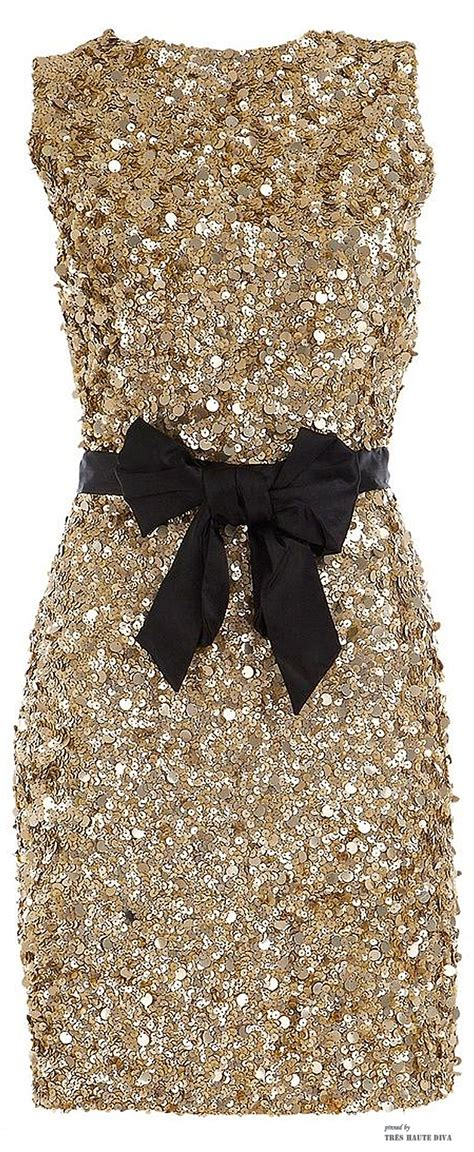 gold sequin dress  black bow tie  years eve dresses