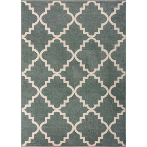 Well Woven Sydney Lulu S Lattice Trellis Light Blue 5 Ft Modern Trellis Rug