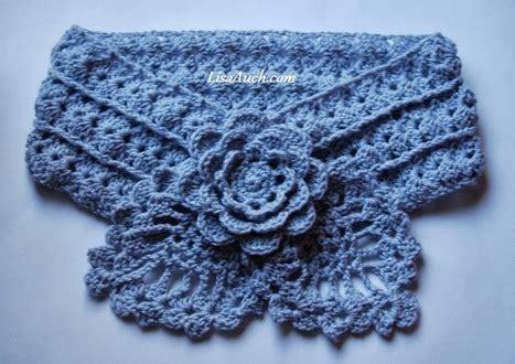 crochet neck design pattern free crochet scarf pattern pretty little pinea
