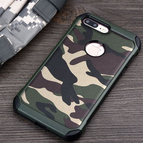 Army For Iphone 7 7plus 7 Plus Softcase Casing Cover Hp keysion phone for iphone 7 7plus 2in1 armor hybrid plastic tpu army camo camouflage back