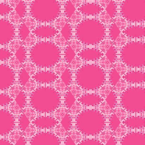 intense pink pixel geometric fabric gingezel spoonflower