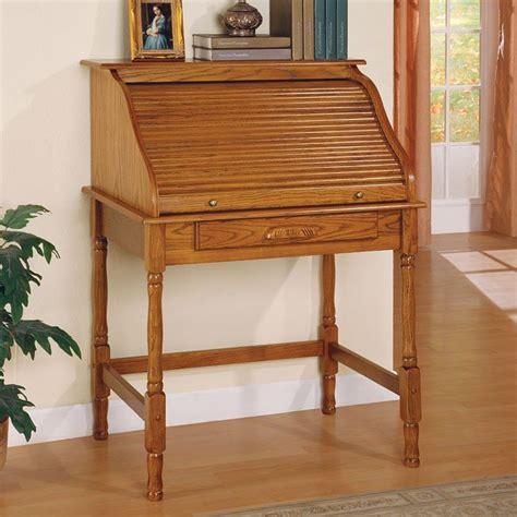 palmetto small roll top secretary desk oak coaster furniture furniturepick