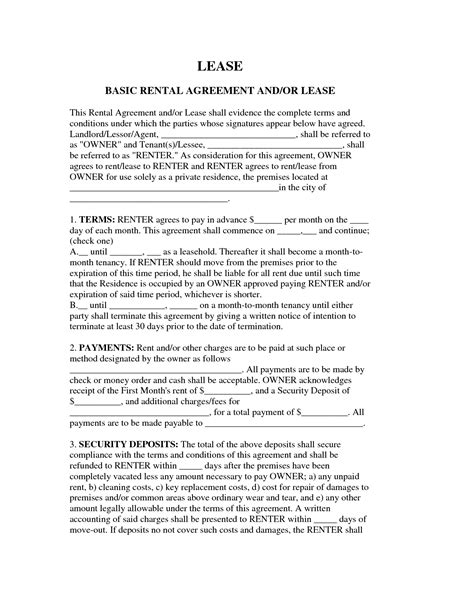 basic agreement form best photos of simple rental agreement form simple
