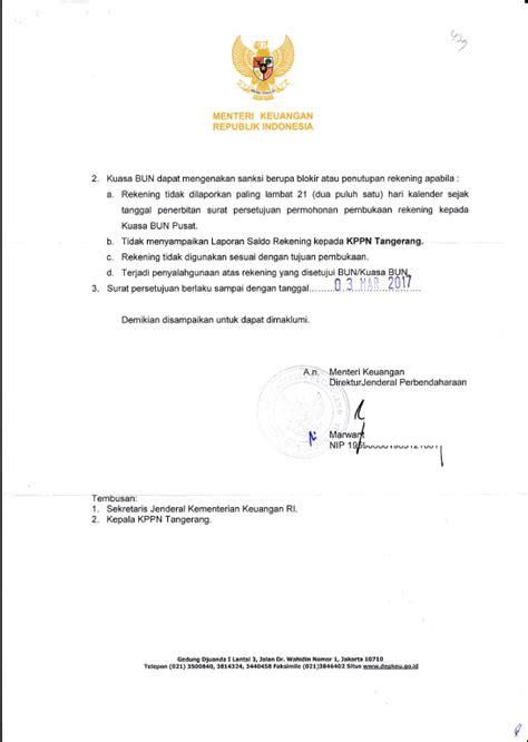 contoh surat persetujuan pembukaan rekening rpl rivaekaputra
