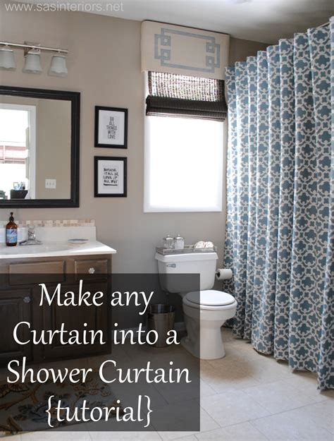 make a shower curtain how to make any curtain into a shower curtain jenna burger
