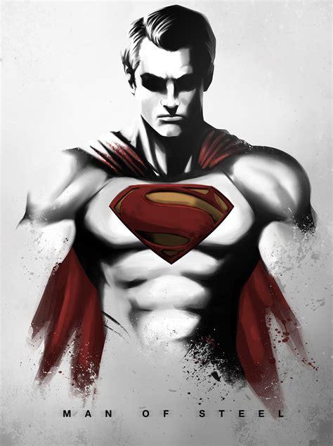 painting superman of steel by niyoarts on deviantart