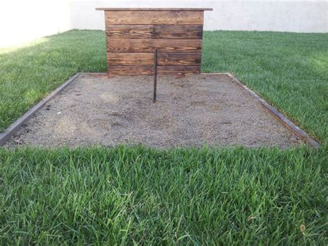 horseshoe pit back yard garden ideas