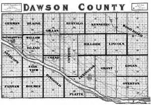 dawson county map dawson county negenweb project maps