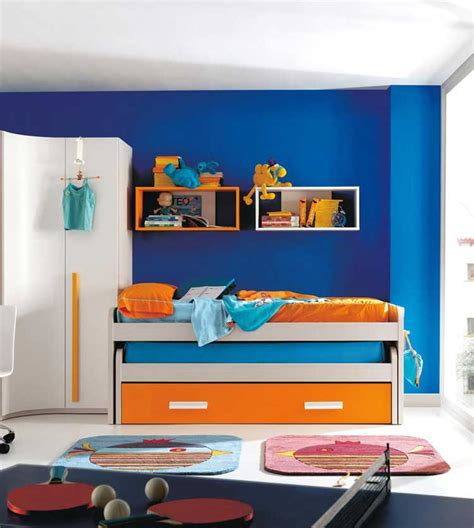 blue and orange bedroom kids bedroom ides kids room furniture ideas photo