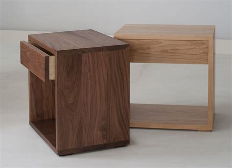 bedside drawers cube modern bedside drawer table natural bed company