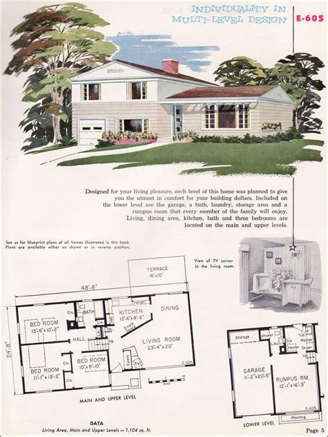 Aladdin Homes Floor Plans 1955 national plan service midcentury split level house