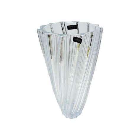 vasi cristallo boemia vaso scallop in cristallo di bohemia original republic