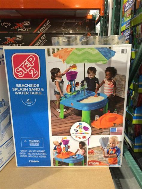 sand and water table costco costco 952789 step2 beachside splash sand water table box