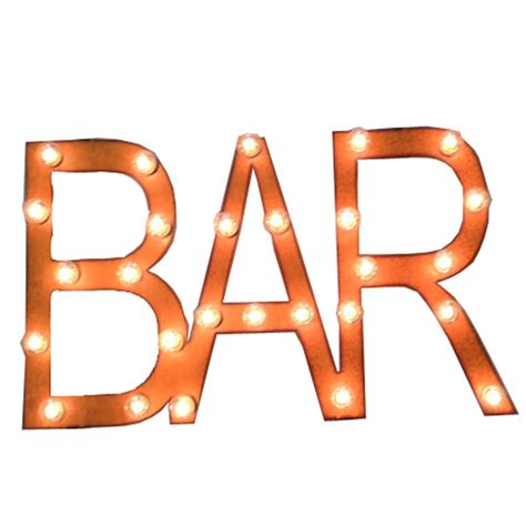 outdoor lighted bar signs universal iron lighted metal sign bar mlbarblock