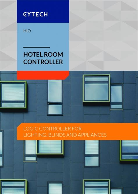 hio brochure hotel room logic controller products