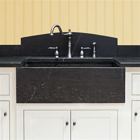 Kitchen Sinks With Backsplash Soapstone Farm Sink With Curved Backsplash Kitchen Sinks Boston By Jewett Farms Co